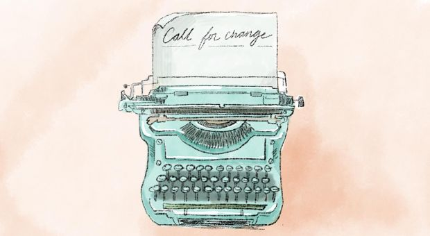 "typewriter with the words ""call to action"""