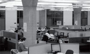 At 4 a.m., Stauffer library isn't the parking lot of studying scholars it usually is.