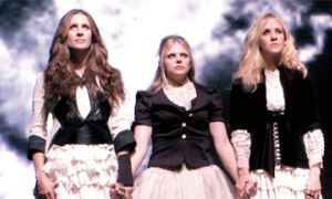 """The Dixie Chicks on the set of their video for the unapologetic """"Not Ready to Make Nice."""""""