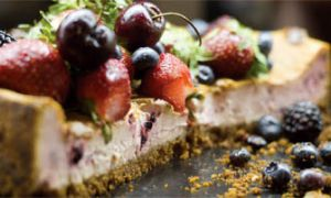 A vegan alternative to traditional cheesecake, offered at The Sleepless Goat, is just as tasty without using animal by-products.
