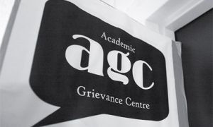 The Academic Grievance Centre is located in Room 031 of the JDUC.