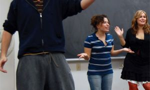 Queen's Players rehearse on Tuesday in preparation for their eight-show run.