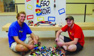 Matt Chase, Sci '06, and Nick Bronsema, Sci '06, will attempt to build a six-metre-long Lego bridge in January.