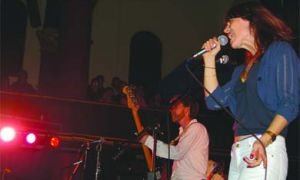 """Feist was """"a piece of fire"""" with Broken Social Scene on Wednesday night at Grant Hall."""