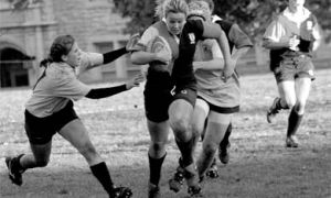 Women's rugby was unable to muster enough offence to overcome the Waterloo Warriors in quarterfinal action.