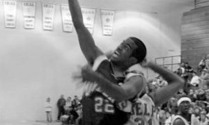Guard Jonathan Daniels puts up a shot against Guelph.