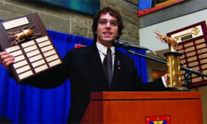 AMS President Ethan Rabidoux announced yesterday the winners of the Golden Cockroach and Key to the Ghetto Awards.