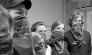 Members of Journalists for Human Rights took a 24-hour vow of silence to raise funds and create human rights awareness.