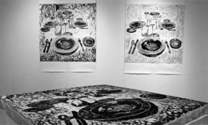 Aimee Saywers' Perspectives of Home experiments with perspective at the Union Gallery's Home[made] exhibit.