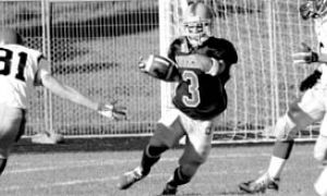 Chris Rogan (3) runs for 69 yards on the kickoff return. Running and returning were the Gaels' strengths in the game.