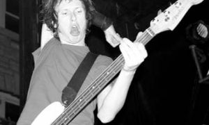 Bassist Cone McCaslin, the contortionist.