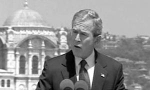 Bush has distanced himself from intelligence reports which suggested Saddam Hussein possessed WMDs.