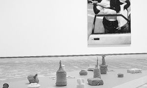 Barbara Hunt's collection of hand-knit land mines and John Abrams' 'Figure Painting' address the issue of group and individual identity from different perspectives.