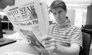Andrew Traficante, ArtSci '08, will no longer be able to read the Toronto Star for free on campus.