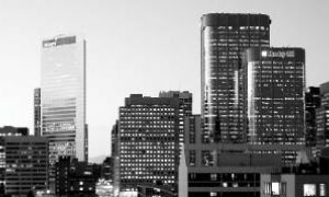 There are 3,700 members registered in the Calgary branch of Queen's Alumni. The city, whose skyline is pictured above, has 45 office towers under construction.