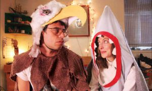 Sparks fly in Eagle vs. Shark when the awkwardly brazen Jarrod and quirky and naïve Lily are finally alone together at a 'dress as your favourite animal' party.