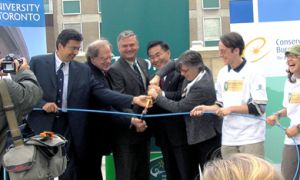 University of Toronto's Rewire program wire-cutting opening ceremony in 2006.