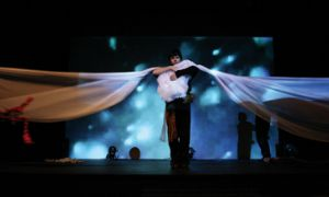 What began as an assignment for a fourth-year interdisciplinary course evolved into Thread, an exciting multimedia stage show that pushes boundaries and finds new ways to tell one of the oldest tales.
