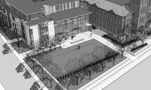 The Goodes Hall expansion project, whose design's pictured above, is projected to cost $40,000