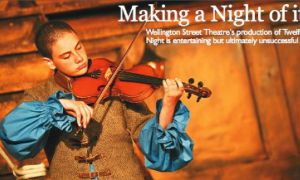 Sophie Szcesniak's violin solos framed the action in Bottle Tree Theatre's production of Shakspeare's Twelfth Night, playing at Wellington Street Theatre.