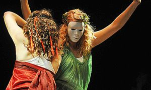 Atmosphere combines beautiful choreography and costume.