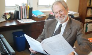 Vice-Principal (Academic) Patrick Deane in his office last February.