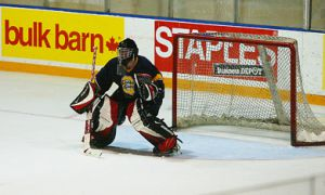 Goaltender Ryan Gibb won the OUA East most valuable player award last season with the Gaels. He's now playing professionally for the New Mexico Scorpions.