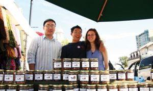 Gilbert Tong, ArtSci '10 (centre), started his own business when he couldn't find a summer job.