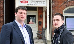 Kevin Wiener, ArtSci '12, and Rory Johnston, ArtSci '11, are running for ASUS executive.