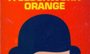 The iconic cover of A Clockwork Orange uses bold primary colours to catch readers' attention.