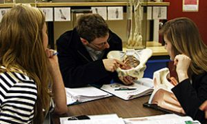 Medical students utilize plastinated body parts as part of their studies as they work at the Anatomy Learning Centre in Botterell Hall on Wednesday.