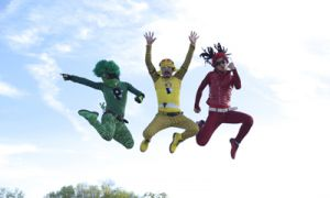 Japanese born, NYC dwelling Peelander-Z are a self-proclaimed action comic act who defy gravity and smash pre-conceived notions of what punk looks like.