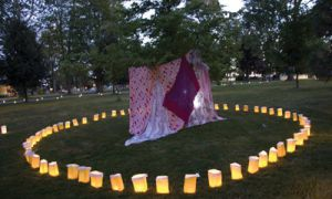 Through a directed choreography, The Lighting the Way Lantern Festival uses movement and light to connect friends and strangers alike in a human chain