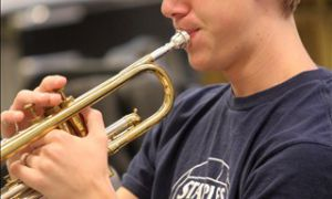 Cameron Bruce, Sci '14, was an avid trumpet player.