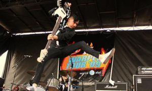After two decades in the punk profession, Anti-Flag haven't lost their knack for stage stunts and wild live shows.