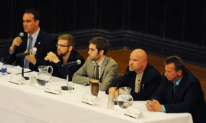 Mayoral candidates discuss student issues at Grant Hall on Oct. 7.