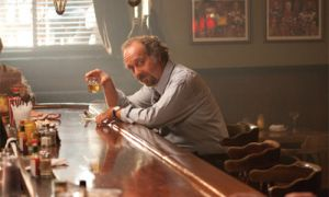 Paul Giamatti stars in the titular role of Barney, a man who likes three things: his father Izzy (played by Dustin Hoffman), cigars and a woman named Miriam (played by Rosamund Pike).