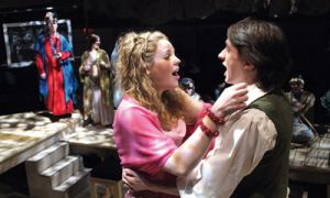 Laura Laing and Edward Larocque (from left) shine as leads Cunegonde and Candide.