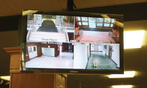 The four surveillance cameras in Victoria Hall monitor the main entrance of the building, the Lazy Scholar exit and the E-Wing exit. Victoria Hall is currently the only residence with surveillance cameras.
