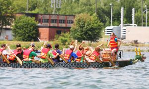 The Limestone City Dragon Boat Club in Kingston holds practices on Monday to Thursday nights in the summer.