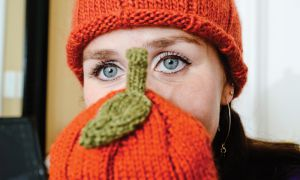 Meaghan Gauthier-Maroi used Etsy to trade one of her knitted pumpkin hats for a variety of bean, spinach and tomato seeds.