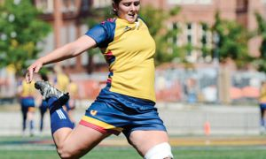 Rookie Bronwyn Corrigan kicked for six points on Saturday.