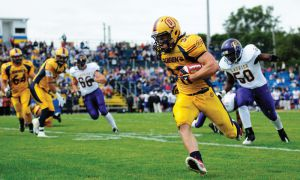 Ryan Granberg ran for 153 yards against a mediocre Wilfrid Laurier Golden Hawks defence on Saturday.