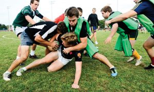 Men's rugby prepared for the McMaster Marauders on Wednesday.