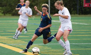 Striker Jackie Tessier has eight goals so far this season.