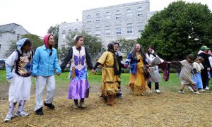 Participants at the fifth-annual Educational Powwow on Saturday at the Agnes Benidickson field celebrated diversity amongst Aboriginal communities.