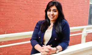 Hanan Dhanani, ArtSci '12, says she worked with 20 other delegates to prepare a written report on four issues facing women.