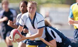 Women's rugby had to wear their uniforms inside-out to avoid clashing with the Toronto Varsity Blues' colours last weekend.