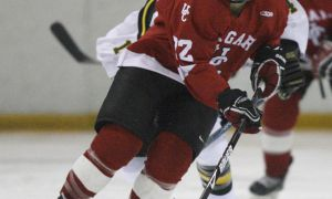 Former pro Hayley Wickenheiser is in her second season with the Calgary Dinos women's hockey team.