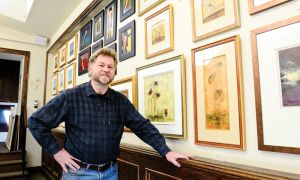 Gallery Raymond owner Raymond Vos was buying artwork in Toronto before he started representing local artists in Kingston in 1984. A collection of his Toronto pieces will be on sale at Harambee.